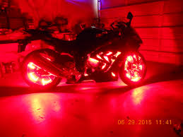 led strip lights for motorcycle rear led upgrade 2016 softail slim installed a pair of red 1157