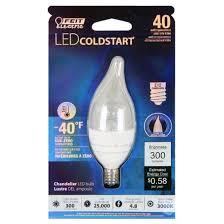 Decorative Chandelier Light Bulbs by Feit 40 Watt Dimmable Cold Start Sub Zero Led Decorative Light