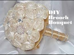 diy bouquet 1 diy how to make your own brooch bridal bouquet fabric flowers no