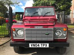 red land rover defender used land rover defender 110 td5 xs dblcb no vat 4x4 for sale in