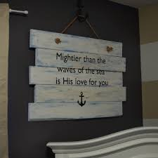 sign decor psalm 93 diy wood pallet nursery sign