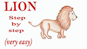 draw lion step step easy