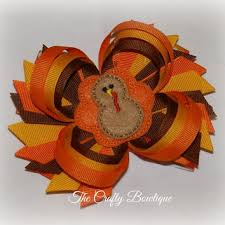 thanksgiving hair bows shop spike hair bows on wanelo