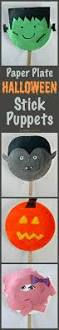 plate halloween stick puppets easy halloween craft for kids