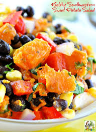 healthy southwestern sweet potato salad this mama cooks on a diet