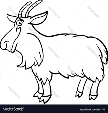 farm animal coloring book farm goat cartoon for coloring book royalty free vector