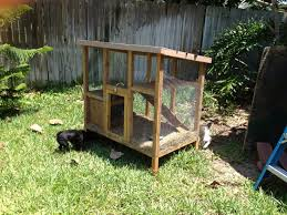 rabbit hutch style coop and run backyard chickens