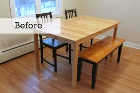 DIY Concrete Dining Table Top And Dining Set Makeover The Crazy - Kitchen table top
