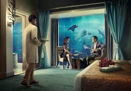 Bill Gates Aquarium In House by Underwater Suites In Dubai Hotel Atlantis The Palm