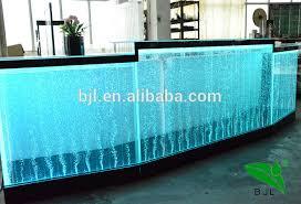 Fish Tank Reception Desk Colourful Modern Long Reception Desk Used Luminous Led Bar