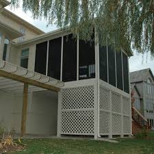 elevated screened porch with deck and stairs archadeck outdoor
