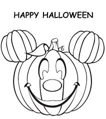 halloween mickey mouse pumpkin coloring pages coloring pages