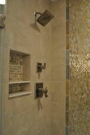 Waterfall Glass Tile Frameless By Pass Shower Doors Vertical Glass Tile U0027waterfall