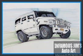 military hummer drawing drawing infamous jims auto art sketches designs fine art
