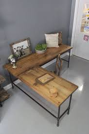 reclaimed wood desk for sale up to 25 off weekend sale l shaped desk wood desk pipe desk