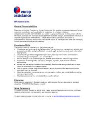 Dsp Job Description For Resume Cover Letter For Hr Manager Gallery Cover Letter Ideas Free