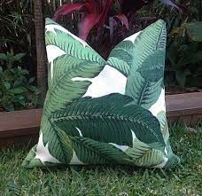 palm leaf cushions banana leaf outdoor cushions cushion