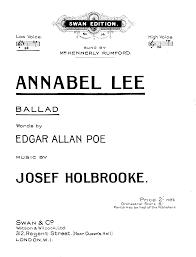 annabel lee op 41b holbrooke joseph imslp petrucci music
