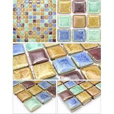 Mosaic Tile Sheets Kitchen Backsplash Tiles Glazed Ceramic Floor - Tile sheets for kitchen backsplash