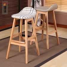 High Chair Desk Usd 124 29 Nordic High Chair Wooden Bar Chair Simple Bar Chair