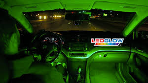 Car Interior Leds Ledglow U0027s Green Expandable Smd Led Interior Kit Youtube