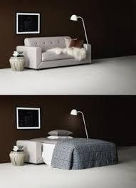 bo concept canapé un canapé convertible 2 places design gris chiné avec des petites