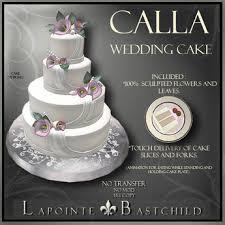 Second Life Marketplace Sculpted Cake U201ccalla U201d Round 4 Tier Cake