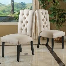 linen chairs rockville tufted linen side chairs reviews birch