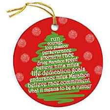 runner tree ornament running porcelain