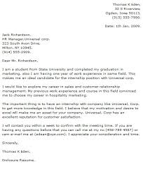 cover letters for internships sample of finance internship cover