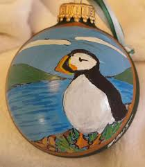 maine painted glass ornaments