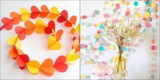 handmade things for home decoration home décor paper garlands blomming blog about handmade home decor