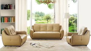 Beige Leather Living Room Set Remarkable Bonded Leather Beige Tufted Sofa Set Arizona