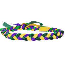 mardi gras headbands mardi gras braided haylo headband with green glitter cus