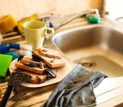 cuisiner le gardon pile sale de cuisine des plats dégoûtants infestés avec des gardons