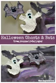 bats u0026 ghosts for halloween easy toilet paper craft where