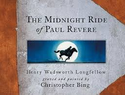 paul revere s ride book the midnight ride of paul revere by henry wadsworth longfellow