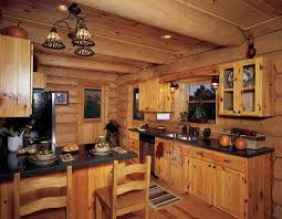 Rustic Kitchen Countertops by Best 25 Log Cabin Kitchens Ideas On Pinterest Log Cabin Siding