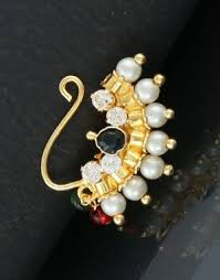 Buy Maharashtrian Traditional Nath Clip Nose Pin Iryaa Royal Nath Clip On Nose Ring Traditional Kraftly