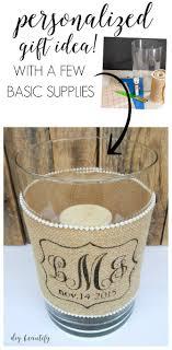 monogram wedding gifts diy idea for custom wedding gifts candle holder with burlap