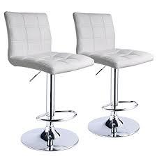amazon com leopard square back adjustable swivel bar stools pu