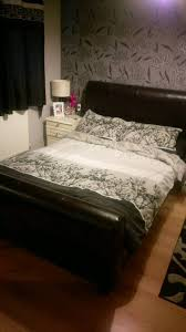 faux leather double bed frame in faversham kent gumtree