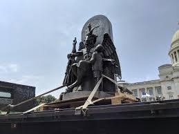Arkansas Travel Security images Satanic temple unveils baphomet statue at arkansas capitol jpeg