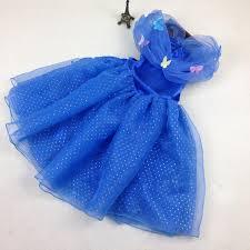 best cinderella kids dress girls cinderella butterfly dress blue