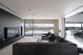 beautiful minimalist family room shown simple elegance with a
