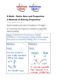 proportions and ratios worksheet free printable math worksheets