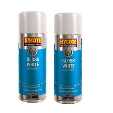 Spray Cans Paint - hycote gloss white 2 spray cans paint 400ml ebay