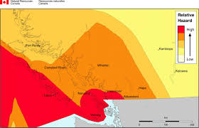 Earthquake Map Seattle by Earthquake Map Vancouver Island