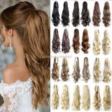 clip on extensions thick ponytail clip in hair extension claw pony clip on
