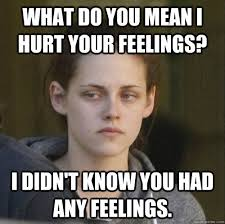 Hurt Feelings Meme - what do you mean i hurt your feelings i didn t know you had any